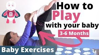 Baby Playtime Exercises👶❤️#3-6 Months - Flying Baby - Baby Activities, Baby Development, Stimulation
