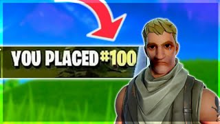 Can You Get Placed #100 In Fortnite.. (THE HARDEST CHALLENGE EVER)
