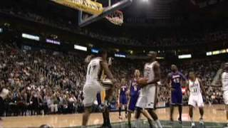 Ronnie Price dunk over Lamar Odom