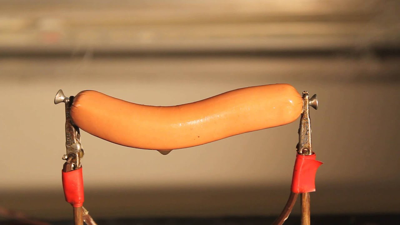 Ohmic Heating Hotdog - YouTube