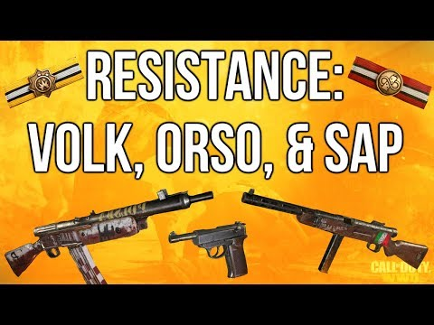 WW2 In Depth Resistance: Volk, Orso, 9mm SAP, & New Basic Training! (Call of Duty: WWII)