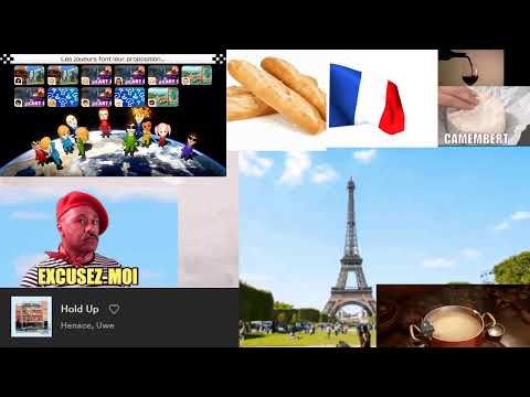 lofi hip hop radio - beats to France to / French lofi hip hop livestream, playing Mario Kart 8 too
