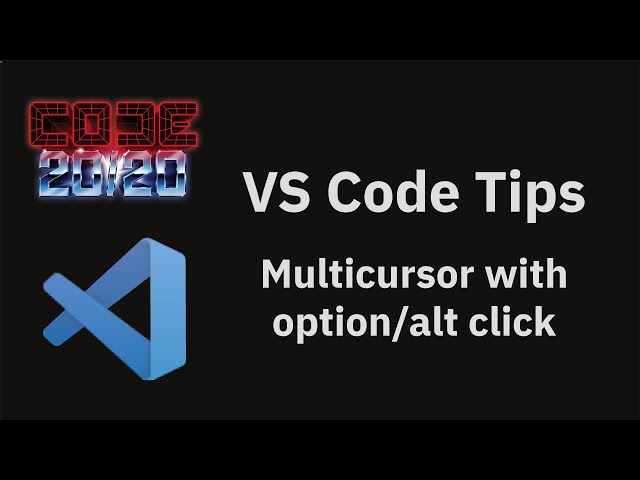Multicursor with option/alt click