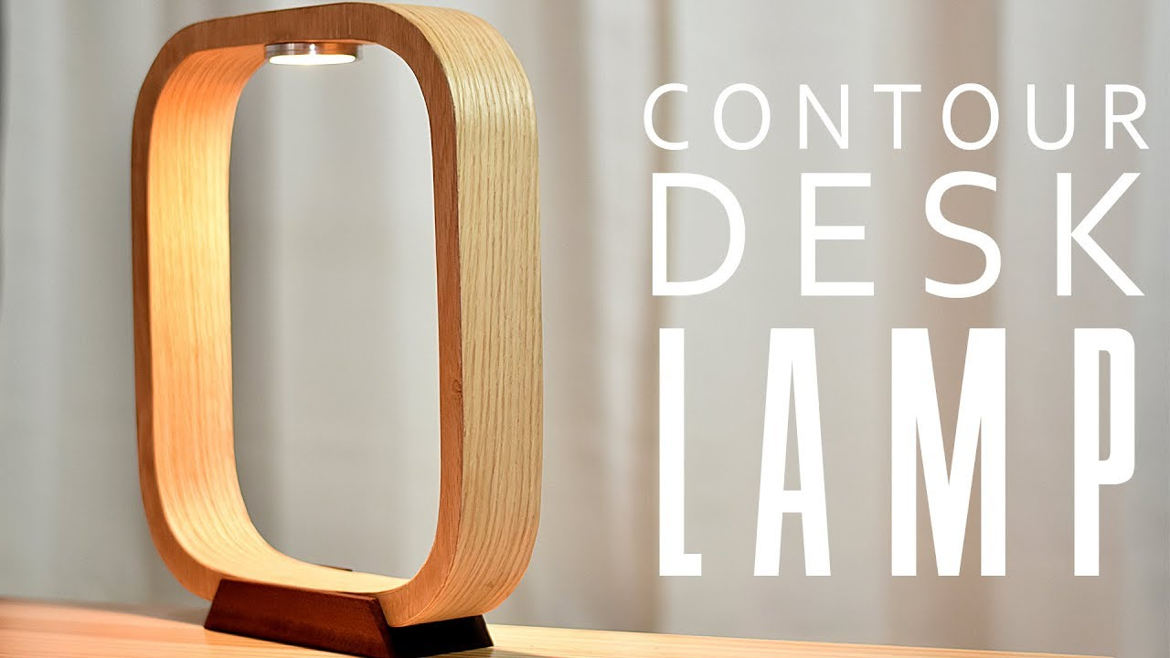 DIY Contour LED DESK Lamp   YouTube DIY Contour LED DESK Lamp