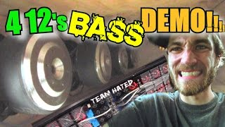 LOUD Blowthrough BASS System w/ Travis 4 Sundown ZV4 12