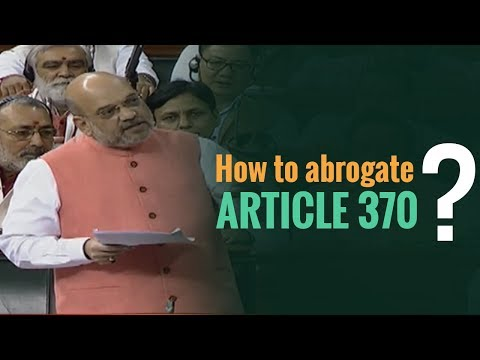 What gives Parliament the power to abrogate Article370 ?