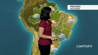 Previsão Brasil – Frente fria parada no Rio de Janeiro