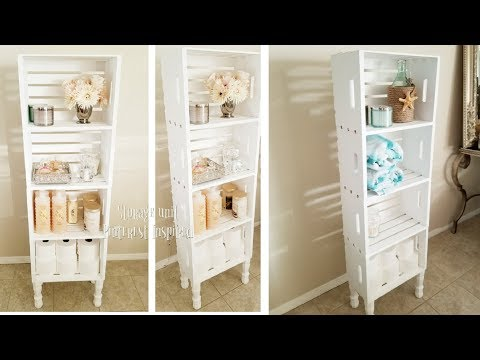 3 LEVEL WOODEN STORAGE UNIT AND ORGANIZER | INEXPENSIVE DIY | GREAT FOR CONDENSING STORAGE SPACE