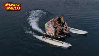 Jetboard powered couch! Lifehack with DubbelFrisss! WIN