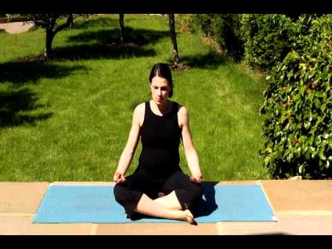 pregnancy breathing exercises with yoga video  lyndamama