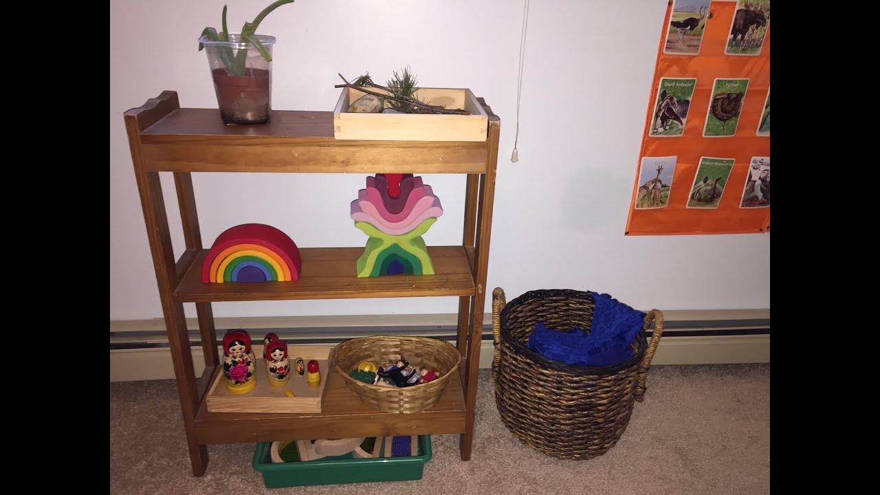 Creative Play Shelf Waldorf Inspired!   YouTube