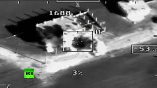 Видеокадры уничтожения атаковавших авиабазу Хмеймим диверсантов в Сирии