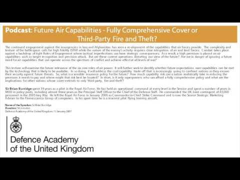 Podcast: Future Air Capabilities Fully Comprehensive Cover or Third Party Fire and Theft