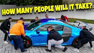 LIFTING SUPERCAR ABOVE OUR HEADS (AUDI R8)