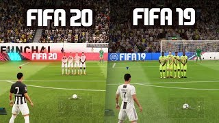 FIFA 20 vs FIFA 19 GAMEPLAY COMPARISON!
