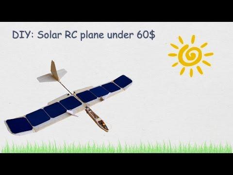 Solar Rc plane flying