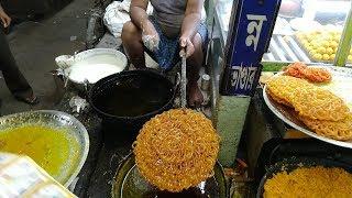 JUMBO GILIPI or GILEBI or Jalebi - Indian Sweet is in the process