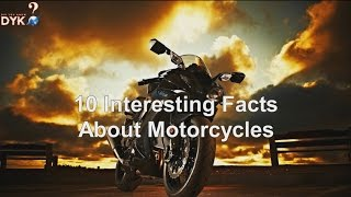 10 Interesting Facts About Motorcycles