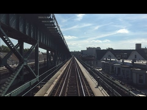 NYC Subway HD 60 FPS EXCLUSIVE: R62A 7 Express & Local Train Railfan Window Roundtrips (6/24/15)
