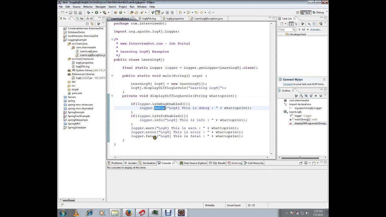 Log4j sample application demo tamil youtube log4j sample application demo tamil baditri Image collections