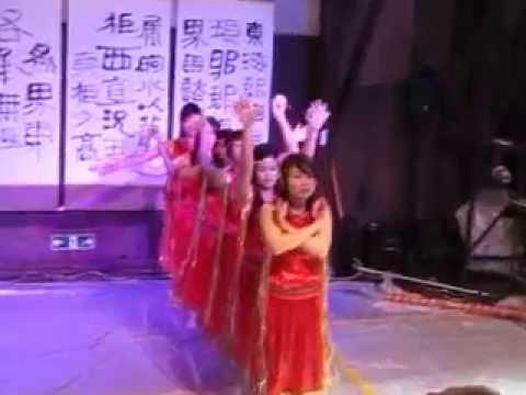 điệu múa tây nguyên các bạn nữ ở Toyama