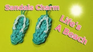 Rainbow Loom Charms: SANDALS / FLIP FLOPS (crazy loom / bands / fun loom)