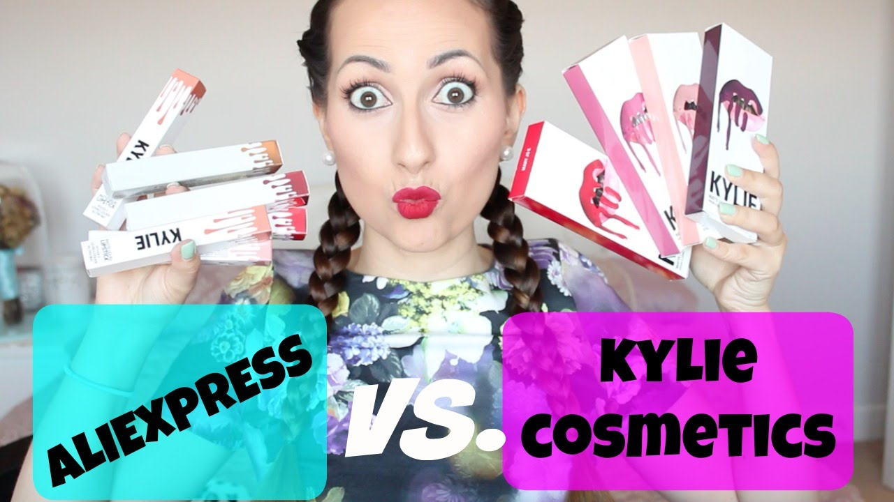 ♡ Kylie Jenner Lip kit Vs. Aliexpress Imitación ♡ - YouTube