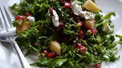 Kale and apple salad with pomegranate vinaigrette