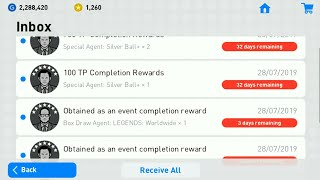 PES2019 MOBILE 😇😇 COMPLETION REWARD PACK OPENING!!