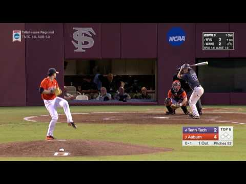 Auburn baseball vs Tennessee Tech NCAA Regionals highlights