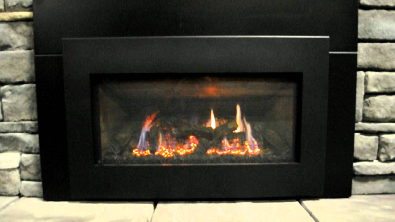 Kozy Heat Chaska gas fireplace insert - YouTube