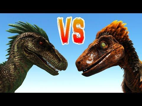 ARK RAPTOR vs DEINONYCHUS vs ALPHA RAPTOR!! Ark Survival Evolved Dino Battle Arena