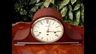 Mantel   Mantle  Clock Westminster  Striking Floating Balance Vintage See Video
