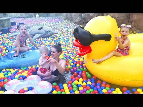 Preston's First Time Swimming in a Ball Pit Swimming Pool!!!