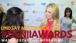 Lindsay McCormick interviewed at AWM SoCal's 57th Annual Genii Awards #GeniiAwards #Geniis2016