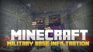 ماين كرافت: التسلل للقاعده العسكرية - Minecraft: Military Base Infiltration