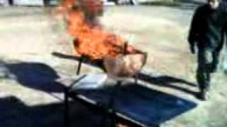 gasolina y fuego