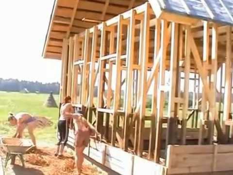 видео: Дом своими руками из соломы и глины
