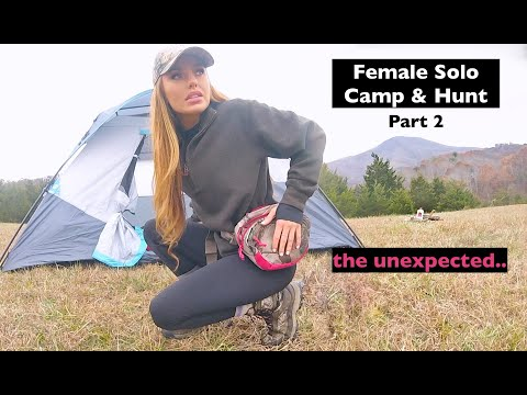 Solo Female Camping and Hunting: Blue Ridge Mountains, Virginia (part 2)