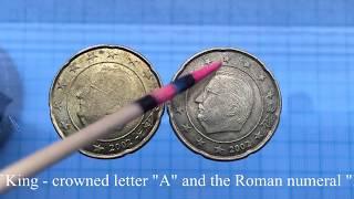 RARE? 20 euro cent  Belgium  2002 different stars rarity or error ?