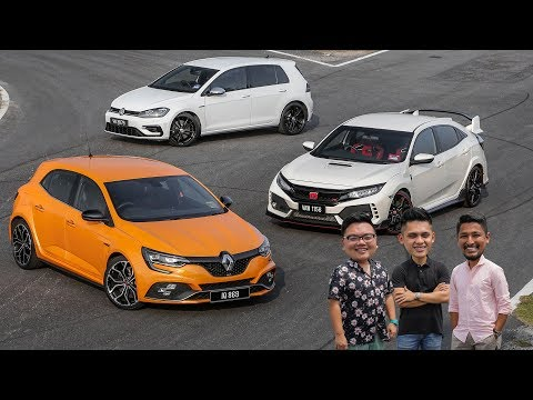 DRIVEN 2019: Honda Civic Type R vs Renault Megane RS vs Volkswagen Golf R Malaysian review