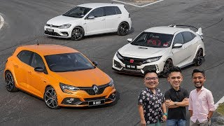 DRIVEN 2019: Honda Civic Type R vs Renault Megane RS vs Volkswagen Golf R Malaysian review