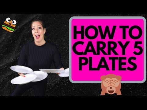 HOW I CARRY 5 PLATES | WAITER RESTAURANT TRAINING
