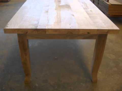Tavoli su misura in legno massello youtube for Tavoli in legno massello rustici