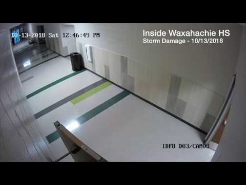 CRAZY VIDEO: Watch doors fly off inside Waxahachie HS during storm