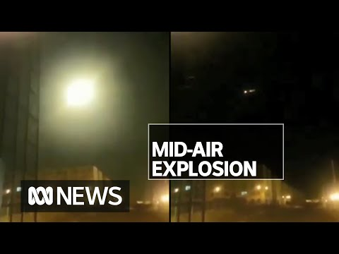 Footage Of Ukrainian Plane Exploding Mid-air Emerges As Intelligence Blames Iran | ABC News