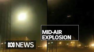 Footage of Ukrainian plane exploding mid-air emerges as intelligence blames Iran | ABC News