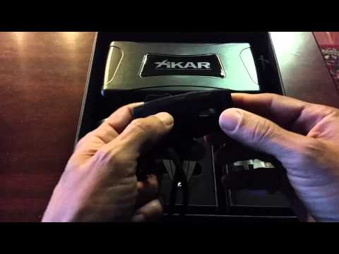 Xikar Cigar AccessoryStarter Kit (Lighter, Cigar, Ash Can and Travel Humidor)