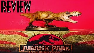 Jurassic Park 25th Anniversary ThinkGeek Exclusive T-Rex Statue Unboxing and Review