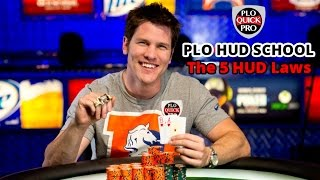 PLO HUD School- The 5 HUD Laws For The Perfect Pot Limit Omaha Setup